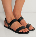 Sandals Genuine Leather New Shoes Woman High Heel 1CM EUR Size 30 46