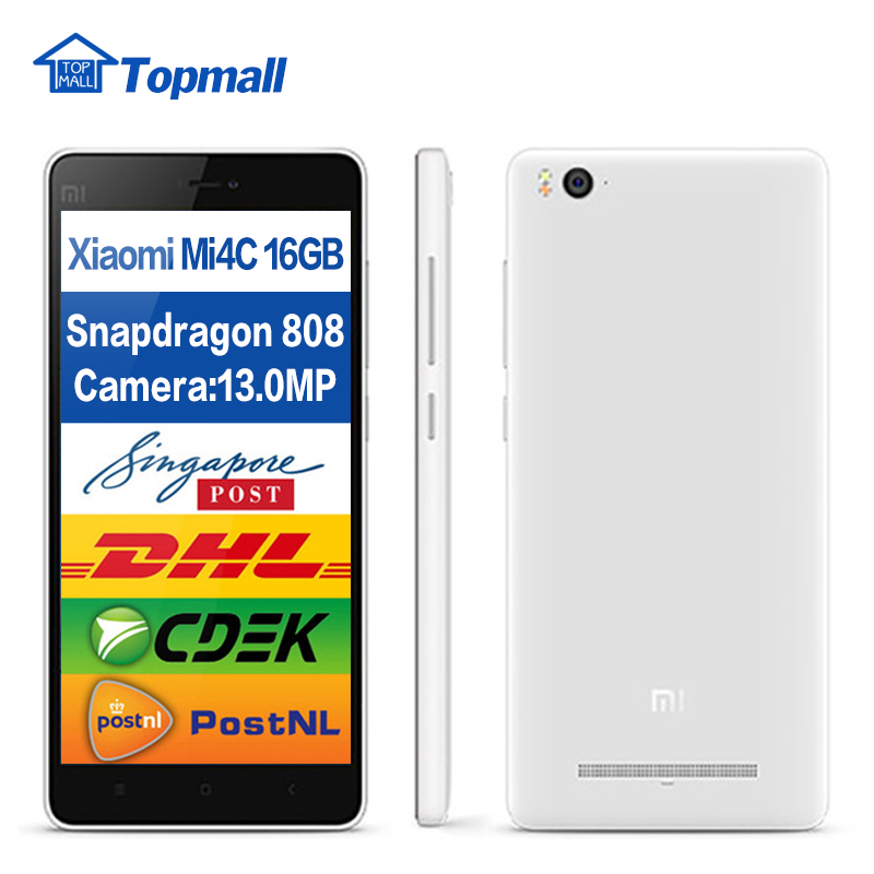 Original Xiaomi Mi4c 16GB ROM cell phone Qualomm Snapdragon 2GB RAM 16GB ROM 3080mAh google play(China (Mainland))