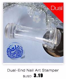 2016 New 2.8CM Transparent Stamp Nail Art Clear Plastic Plate Jelly Stamper Scraper Tool Set Manicure Polish Stamp Image Kit