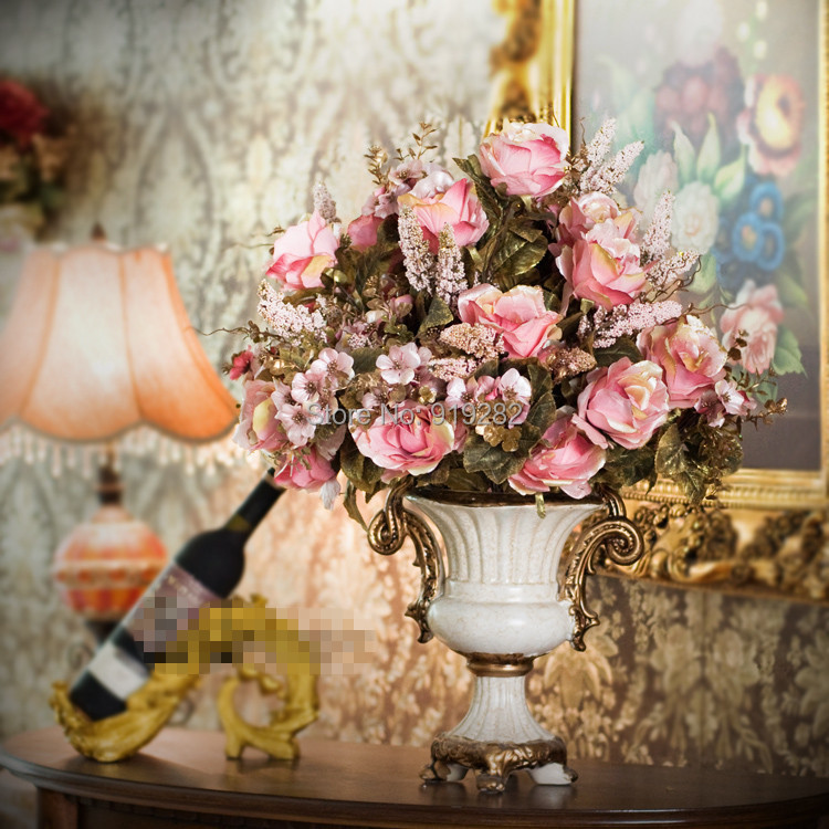 Kim big France classic style roses placed high-end European raw silk flower artificial flowers  -  LOVE IN LOVE store