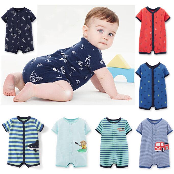 2015 New Carters Summer Baby Boys Clothing,0-24M Short Jumpsuits Romper Carters Baby Boy  menino roupas bebes infantis<br><br>Aliexpress
