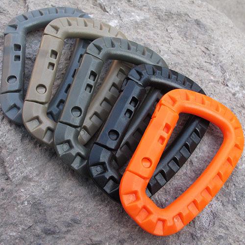 Mini Small Climbing Carabiner For Keys Hook Snap Equipment Survival Kit Militery Ferramentas EDC Gear Tool Buckles Paracord(China (Mainland))