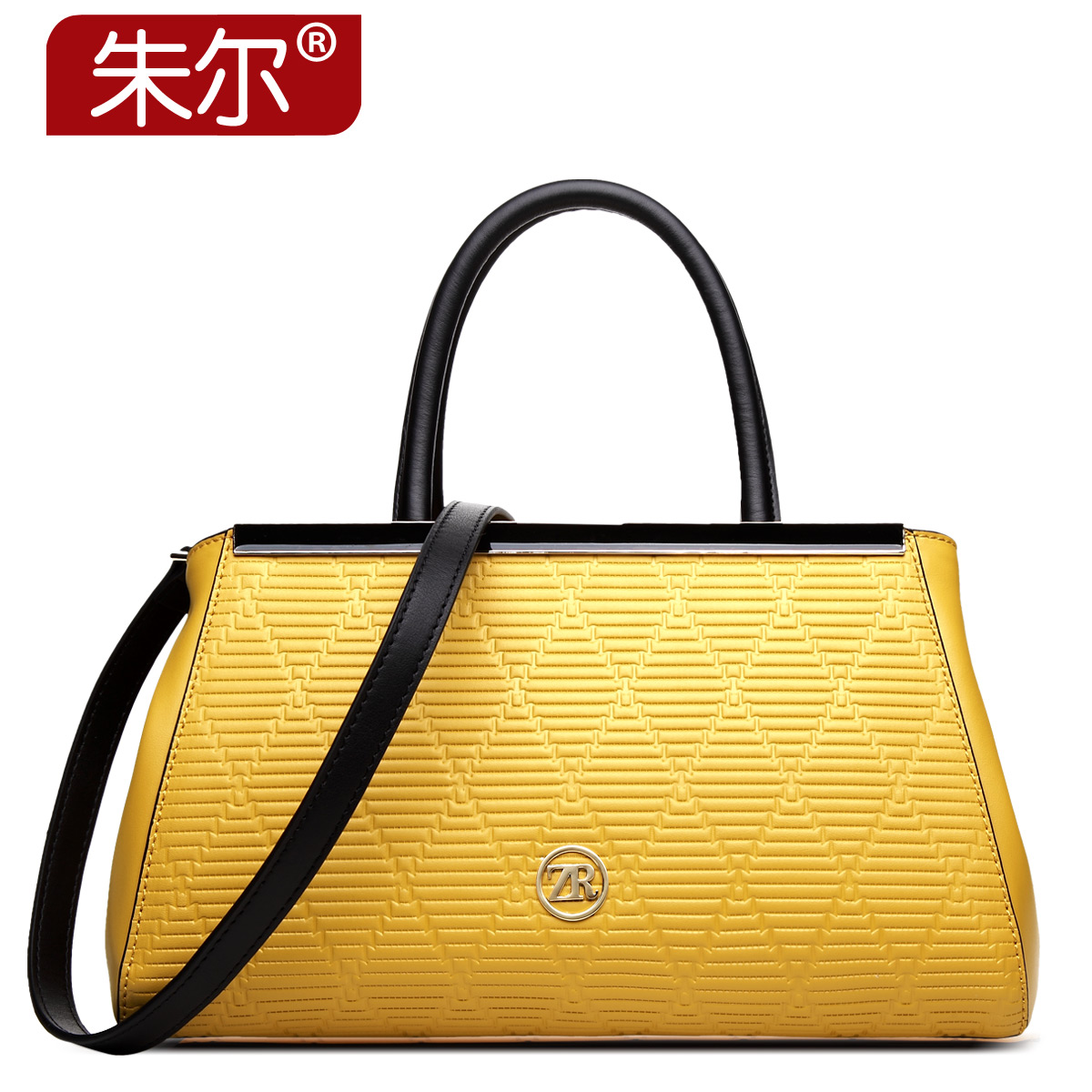 2015 women's cowhide handbag fashion bright color women's bags ladies elegant female handbag