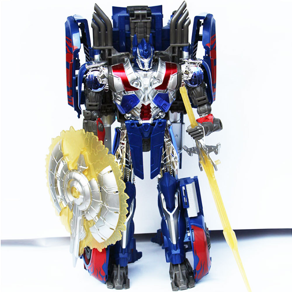 New 2014 Edition Genuine 30cm Transformation Robot Movie 4 Age of Extinction Optimus Prime Classic Action Cars Robot Toys(China (Mainland))
