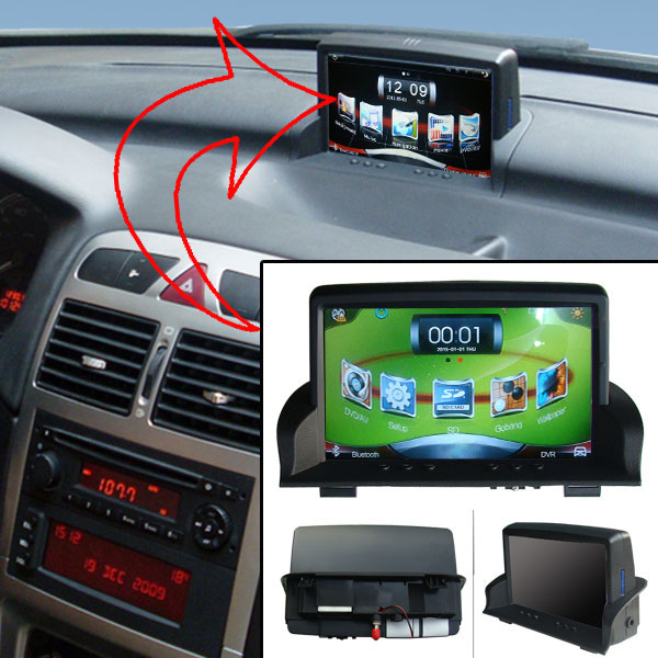 """7""""Capacitance Touch Screen Car Media Player for Peugeot 307+DVR+USB player+Android mobile phone and host interaction Function(China (Mainland))"""