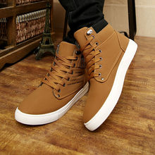 2015 chaussures hommes Hot Sapatos Tenis Masculino homme mode automne hiver bottes de fourrure en cuir pour homme Casual High Top toile hommes chaussures(China (Mainland))