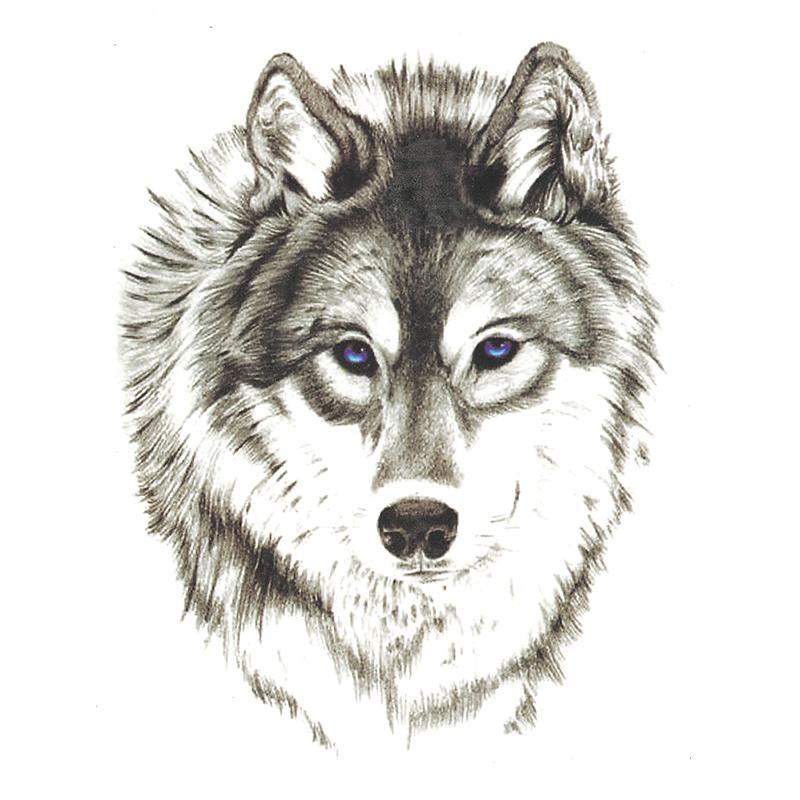 Waterproof Temporary Tattoo Stickers 3D Wild Horror Wolf Animals Design Body Art Makeup Tools(China (Mainland))
