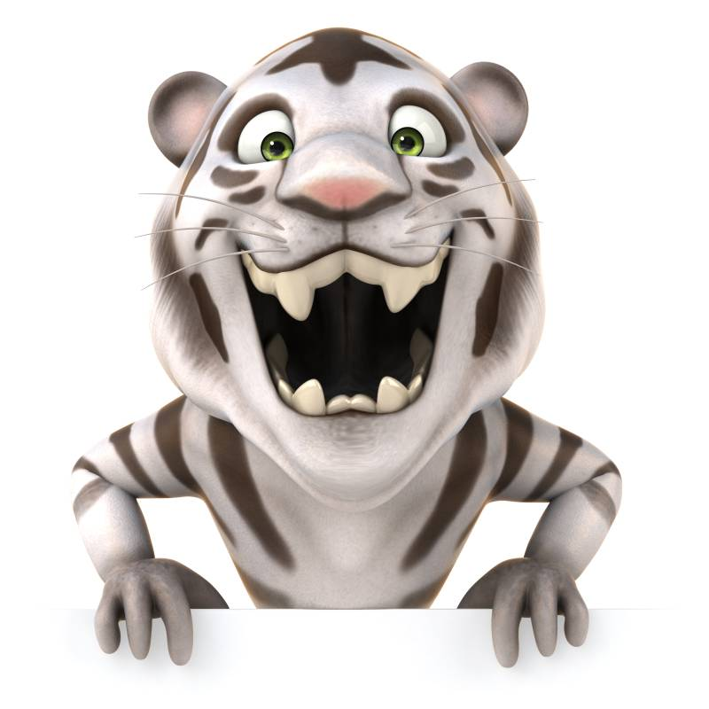 Unframed Cartoon 3D Modern Printed Tiger Canvas Painting For Living Room Wall Pictures Children Room Artwork Kids Gifts(China (Mainland))