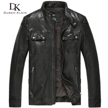 2014 motorcycle male genuine leather clothing men's clothing  fashion sheepskin leather coat 14L1118 free shipping