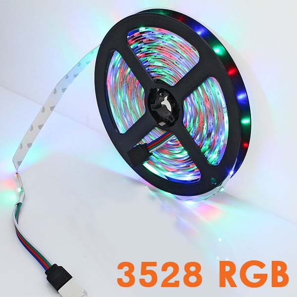 Led strip RGB SMD 3528 300 leds Flexible 5M color changing LED string for home christmas lights decoration(China (Mainland))