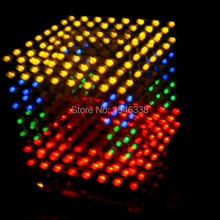 DIY 3D 8S LED multicolor Light Cube With Animation Effects /3D CUBE 8 8x8x8 3D LED /Kits/Junior,3D LED Display,Christmas Gift(China (Mainland))