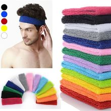 NEW Popular Women Men Color Sport Sweat Band Sweatband Headband Hair Band Yoga Band(China (Mainland))