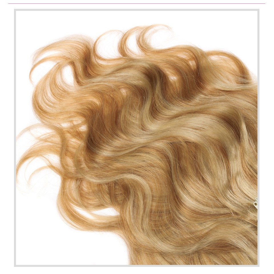 7 Pc 14 Clip In Human Hair Wavy Remy European Clip In Hair Extensions Clips In Human Hair Extensions 180G Colore 27/613 Mixed