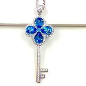 small blue topaz pendant