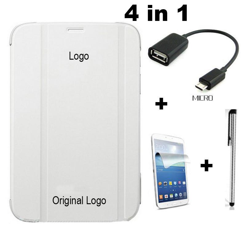 Гаджет  For samsung galaxy tab4 8.0 T330, 1:1 office Book PU leather flip stand cover case + OTG + Stylus + Free Screen protector None Компьютер & сеть