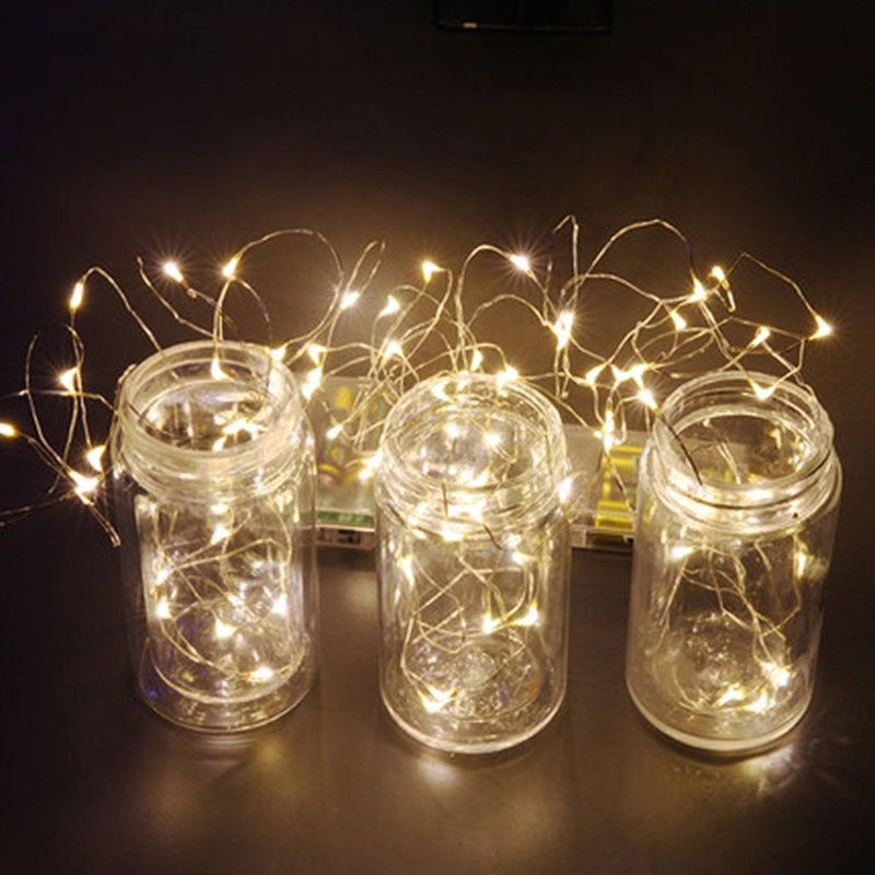 Led String Christmas Lights Copper Sliver Wire 3M 30Led Battery Operater  Waterproof Outdoor Indoor Garland Light Fun Life TW