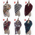 Plaid Blanket Scarf Oversize Multi Color Scarf Knit Scarf Cream Blanket Scarf mixe 10 designs 100pcs