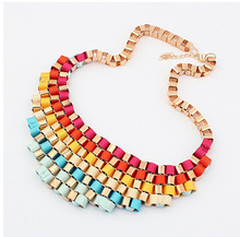 Sunshine jewelry store Necklaces & Pendants Hot Sale gradually changing color Choker Statement Necklace Fashion Jewelry