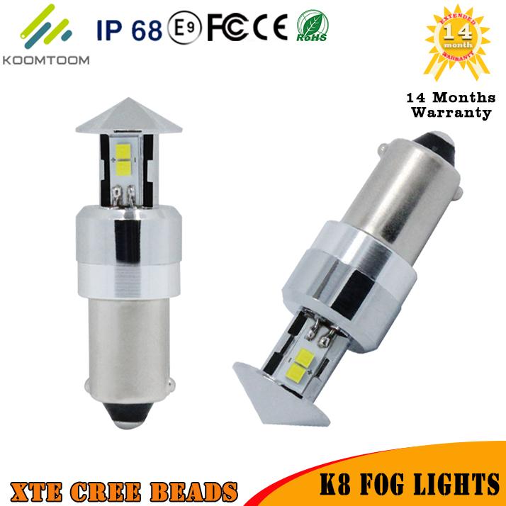 Set Ba9s Rear Fog Lights Fog Lamps Reading Light Turn Signal Auto External Lights 6000K White Light 9W CREE CSP BEAD