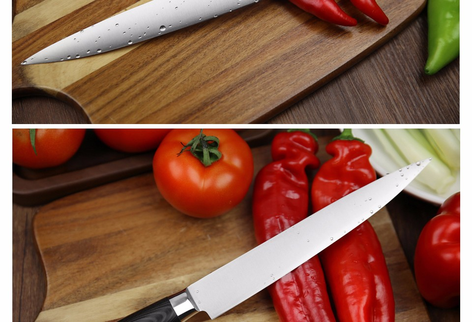 Buy XINZUO 8 inch cleaver knife 440C 3 layers clad steel kitchen knives micarta handle sashimi knife kitchen tackle free shipping cheap