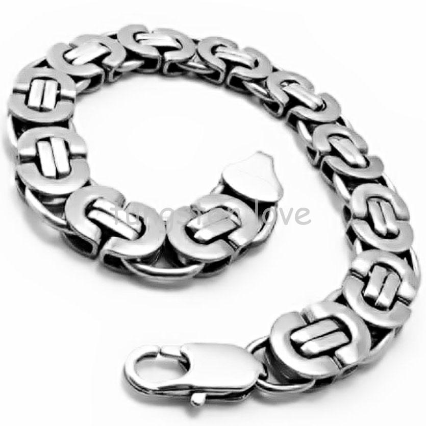 22cm Fashion 316L Stainless Steel Bracelets For Men Silver Charms Jewellery Boys Male Bracelets and Bangles Great Quality(China (Mainland))