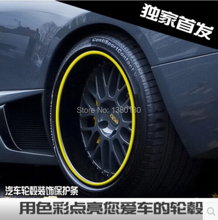 8 Meter/Roll 3M Car Wheel Hub Tire Sticker Car Decorative Styling Strip Wheel/Rim/Tire Protection Care Covers Auto Accessories<br><br>Aliexpress