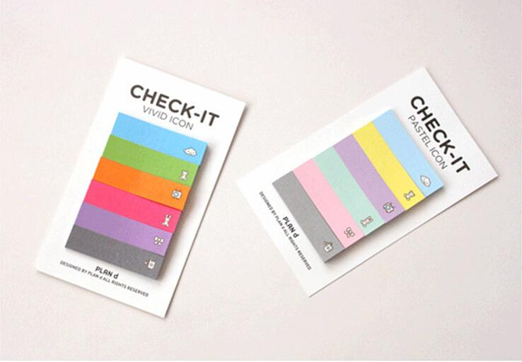 1 Piece Sticky Post Filofax Memo Pads Office Supplies School Scratch Stationery Rainbow Notepad Notes(China (Mainland))