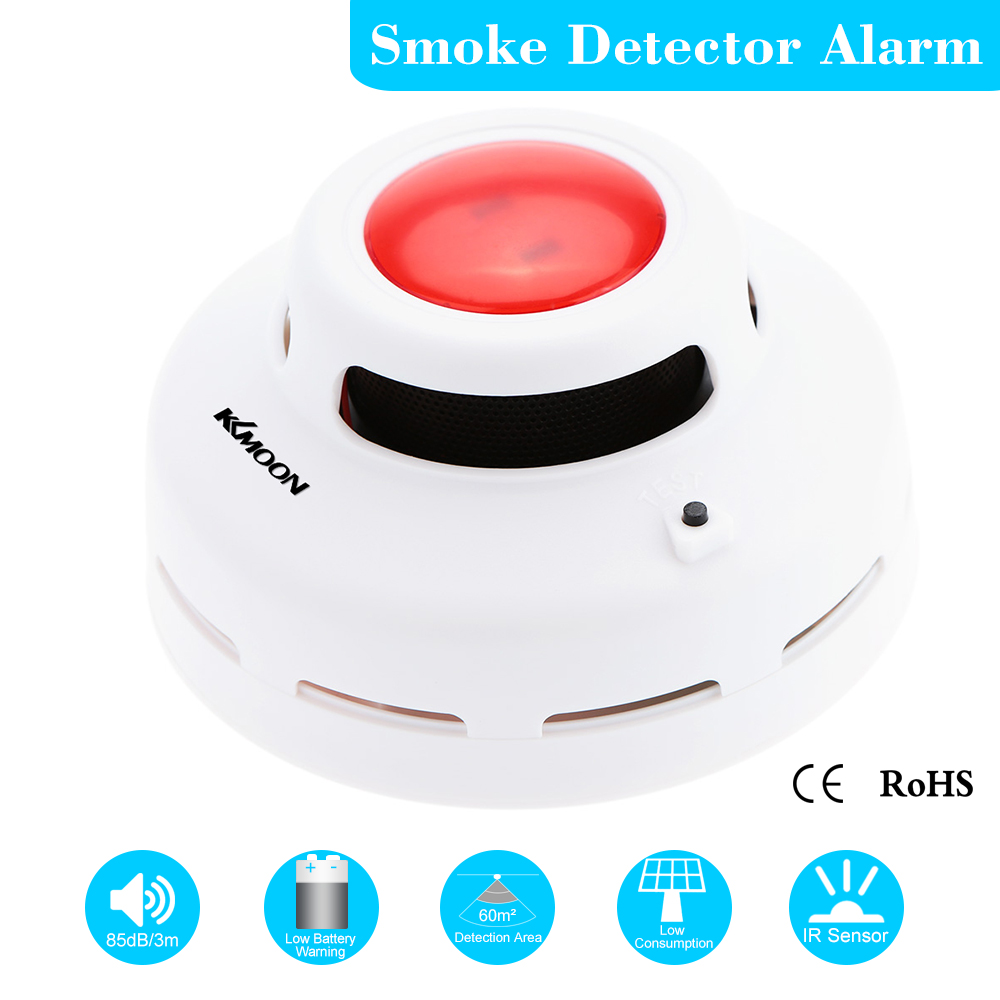 High Sensitive Standalone Photoelectric Smoke Detector Fire Alarm Sensor for Indoor Home Safety Garden Security MCU Technology(China (Mainland))