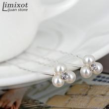 Wholesale 20pcs/set Wedding Bridal Party 3 Pearls 1 Rhinestone Hair Clip Hair Pin Bridemaid Accessories(China (Mainland))