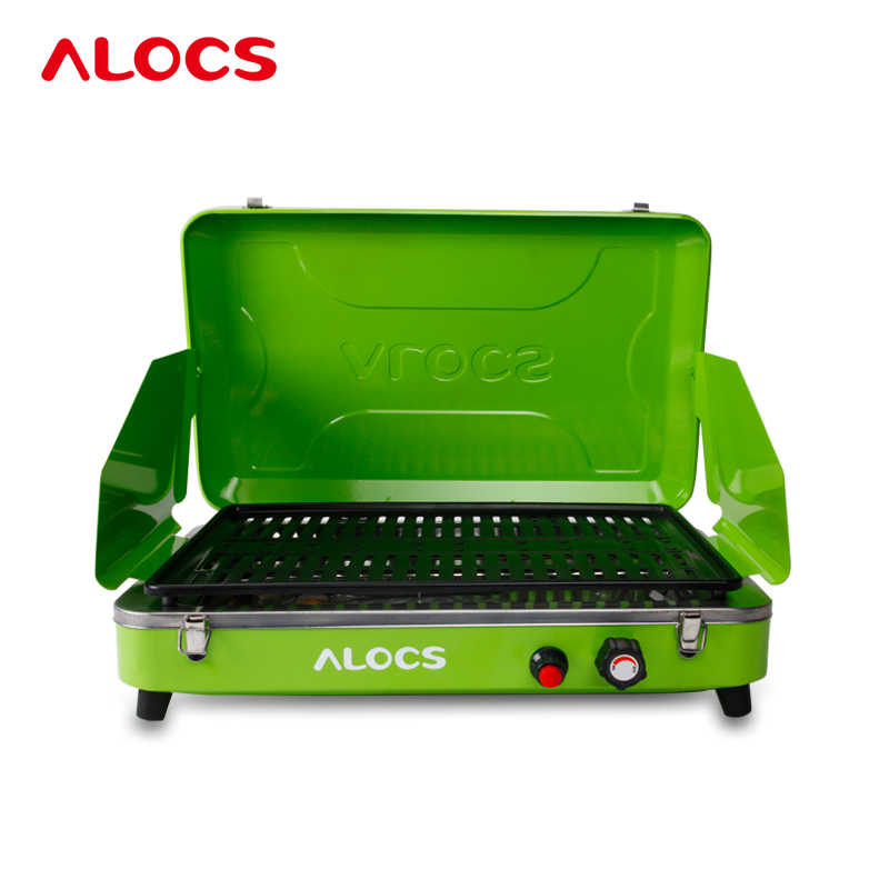 Outdoor Burn Oven Camping BBQ Grill Portable Folding Vehicle Gas Oven No-Stick Environmental Protection 6KG Safety Health(China (Mainland))