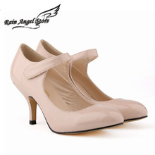 Pointed Toe High Heels Women Heels  6CM Shallow Mouth Singles Shoes Candy Color Sandals Velcro Sexy Women Pumps Size 42