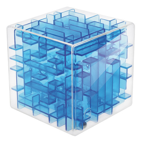 3 Color Magical 3D Maze Magic Cube Puzzle Game Children Educational Labyrinth Rolling Ball Toy,BDB20,Free Shipping(China (Mainland))