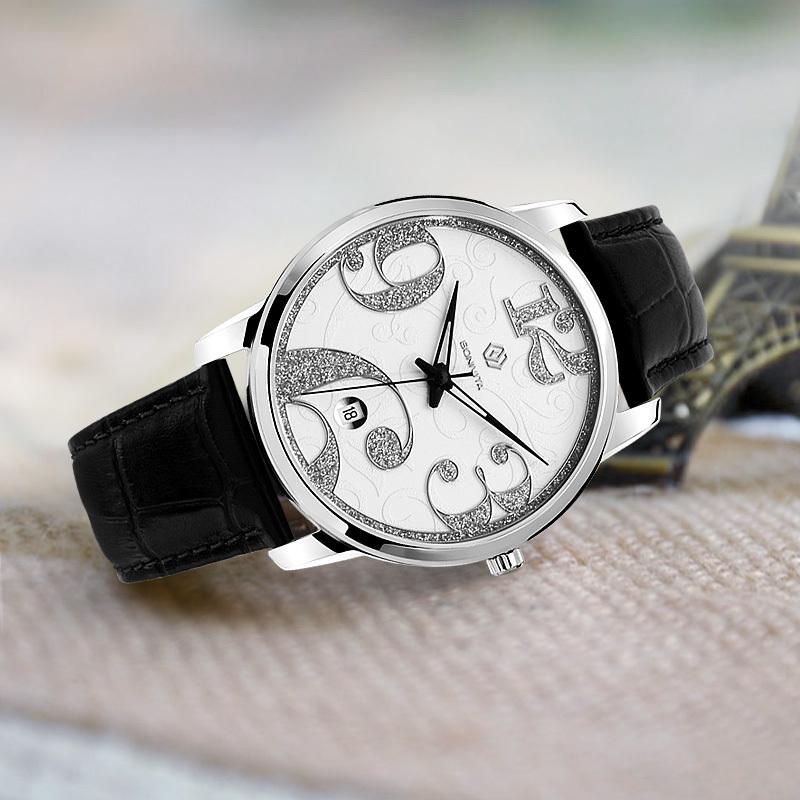 Bonivita new Casual watch Vintage design digit quartz Women ladies dress stainless steel - Shenzhen Technology Co., Ltd. store