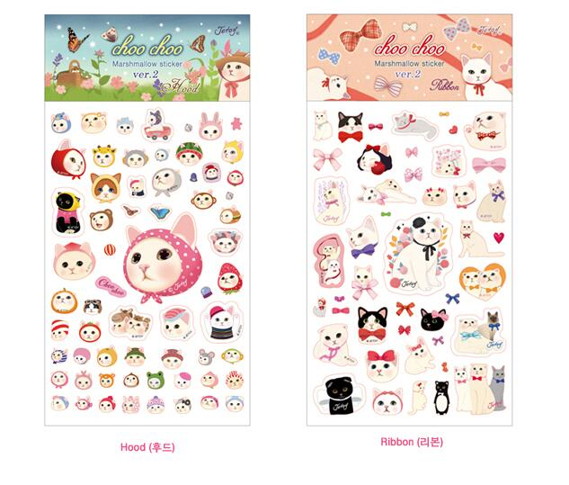 Lovely cartoon cat sticky stickers 4pcs/lot 19*9.5cm Korean stationery girls gift DIY scrapbook supplies(China (Mainland))