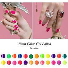 Buy 8ml Colorful Neon Gel Polish Bling Gel Varnish 24 Color Soak UV Color Gel Nail Polish for $35.78 in AliExpress store