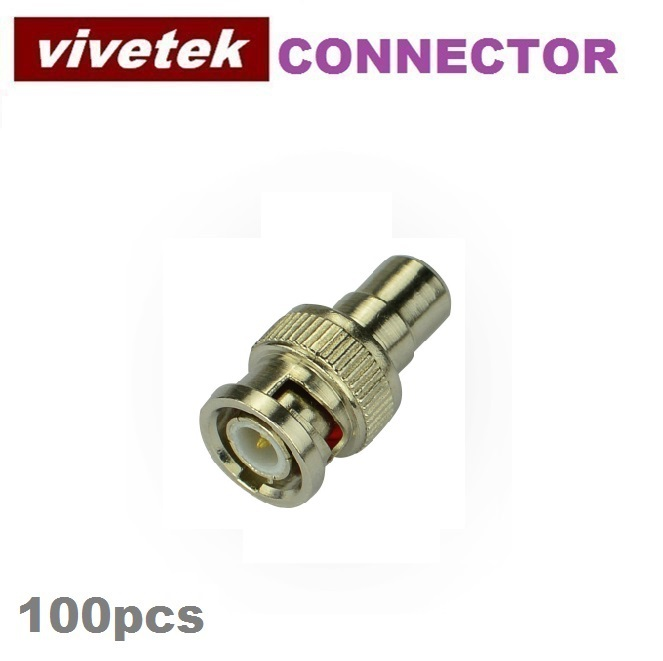 100pcs BNC Male to RCA Female Coax Cable Connector Adapter F/M Coupler for CCTV Camera(China (Mainland))