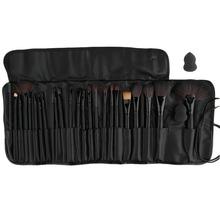 Макияж косметический набор 24 Шт. Косметические Кисти Фонд Порошок Тени Для Век Кисти set + 1 шт. puff + черный мешок Pro Black 100% Топ Хорошее(China (Mainland))
