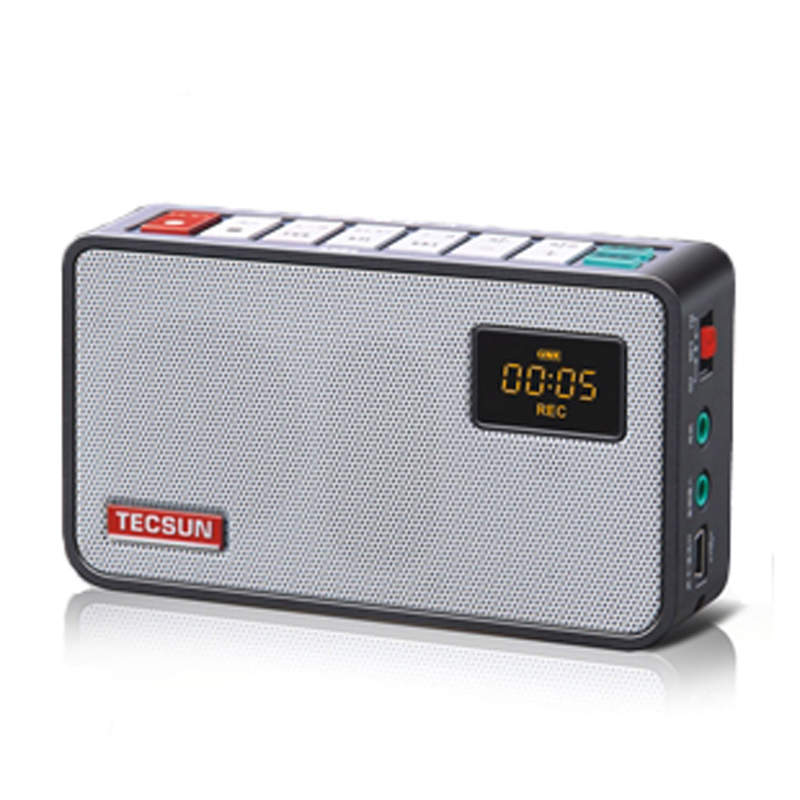 TECSUN Portable FM Radio For Old Men Broadcast Recorder Digital Radio Receiver With rechargeable Battery Black Silver White(China (Mainland))