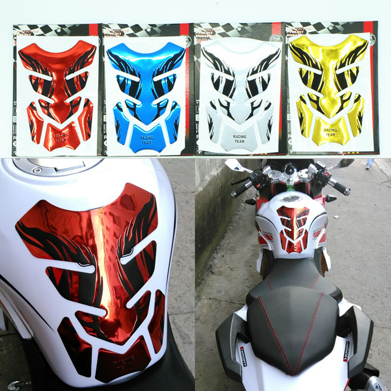 2016 New Chrome Red Motorcycle Gas Tank Pad Sticker Protector for Honda CB400 CBR250/CBR400 Yamaha YZF-R1/R6 FZ-1 FZ6(China (Mainland))