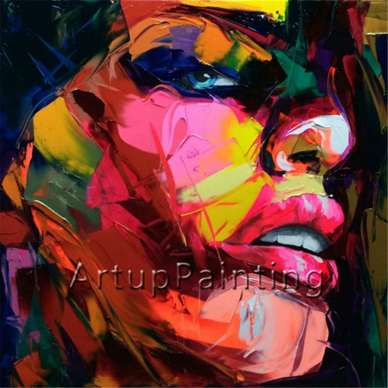 Portrait Palette knife Face Oil painting Impasto figure on canvas Hand painted Abstract Morden Wall Art Picture For living room(China (Mainland))