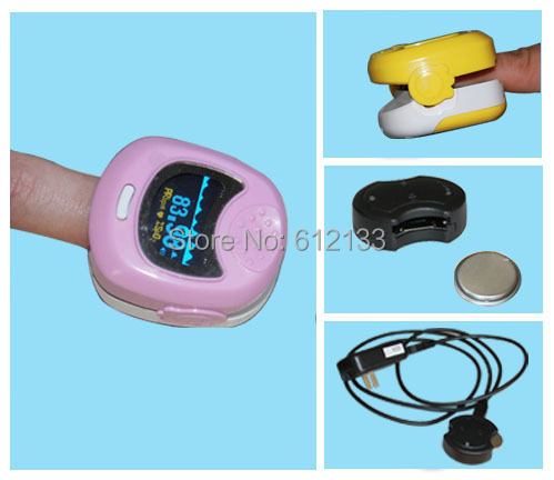 FDA CE Approved Pediatric Pulse oximeter for Child Kids SPO2 Blood Oxygen Monitor Without Battery