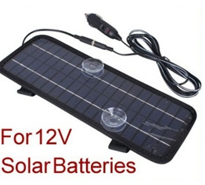 Powerful New! 12V Portable Solar Panel Battery Charger 4.5W For Car Boat Motor+USB Car Charger Free Shipping(China (Mainland))