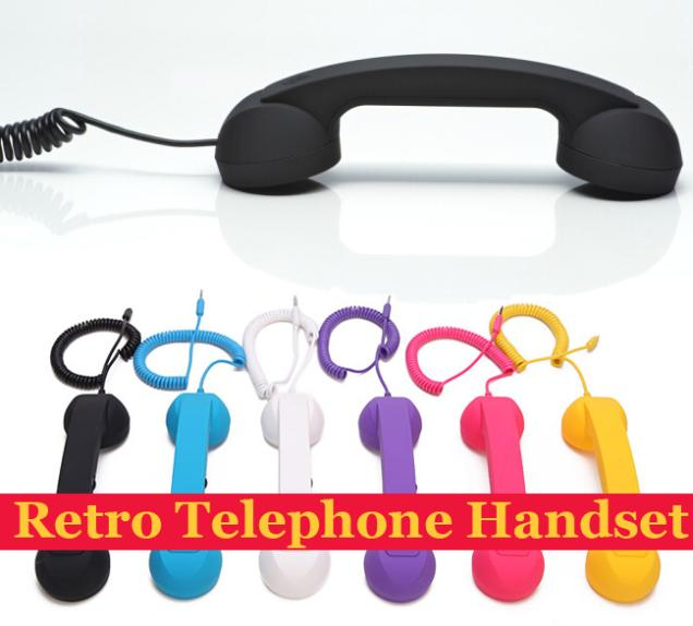 3.5 Retro Phone Headset Retro Telephone Receiver Anti-radiation Mobile Phone Handset Earphone Headphone for iphone HTC Samsung(China (Mainland))