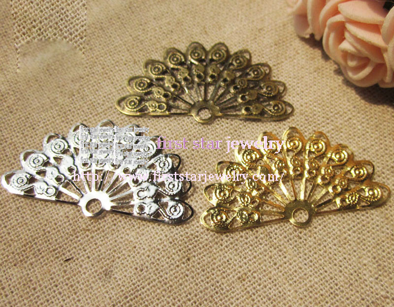 21*38mm filigree connector silver/bronze /gold three color you can choose/100pcs