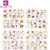 BOP068-071 KADS Sparkling Diamond Ring and Loving Heart Water Transfer Nail Sticker Colorful Design For Nail Art Sticker