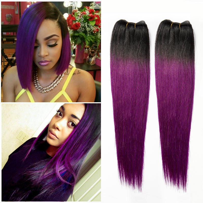 Black Hair With Purple Extensions Www Imgkid Com The