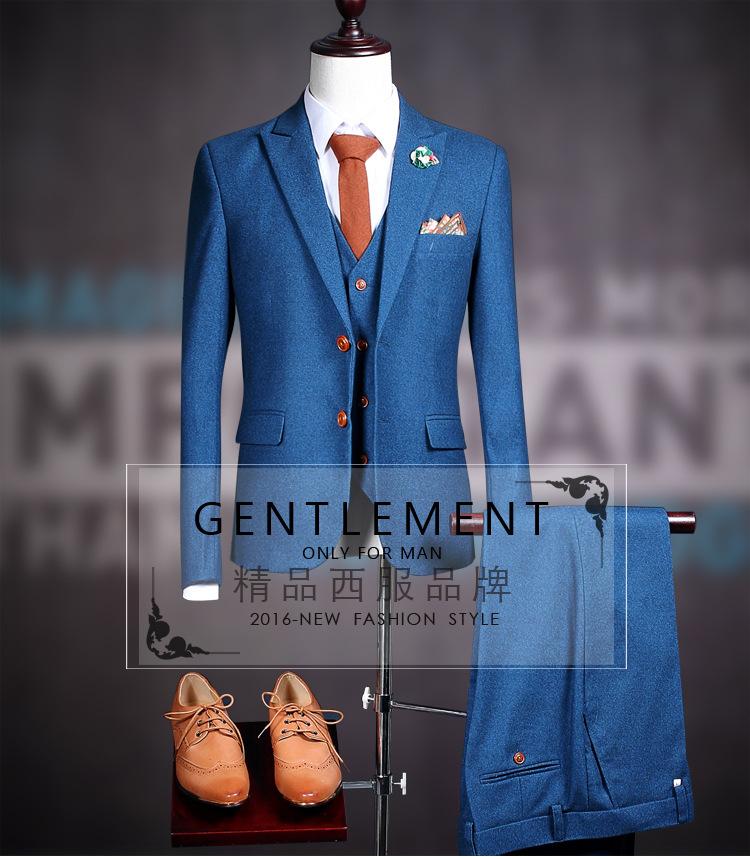 HTB1WB4TQXXXXXXFXVXXq6xXFXXXP - La MaxPa (jacket+pants+vest) New fashion men suit spring autumn blue suits casual slim fit prom groom party man wedding suit