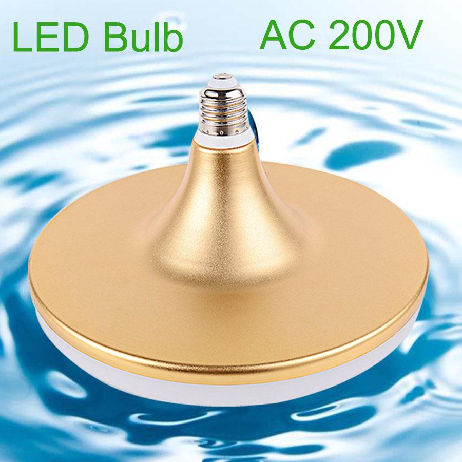 UFO E27 LED Bulb Light 40W 30w 15w Aluminum LED Lamp E27 220v 230v 240v SMD 5730 Flat High Power LED Light Bulb(China (Mainland))
