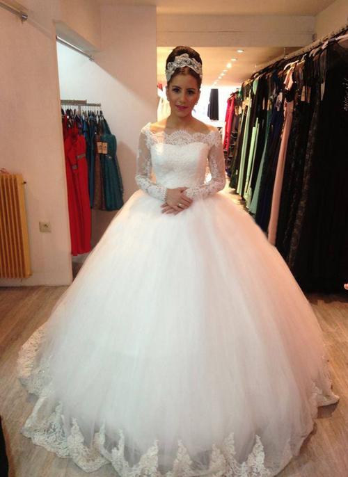 Иллюзия рукава свадебные платья новый халат де свадебная принцесса бальное платье зимний стиль с люкс романтический лучшие платья