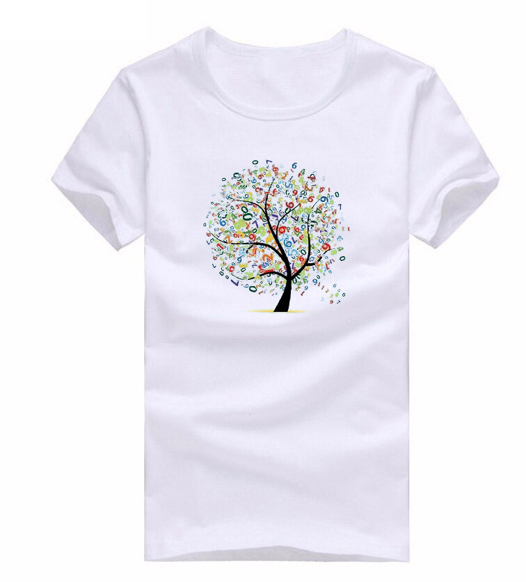 Free Shipping Trees T Shirts Men Shirt Short Sleeve Brand